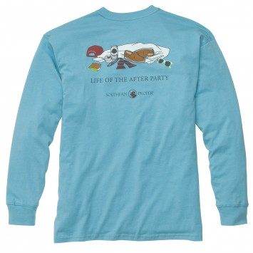 Life of the After Party: Retro Blue Long Sleeve